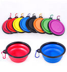Pet Dog Portable Silicone Collapsible Travel Feeding Bowl Food Water Feeder GOG
