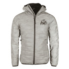 KWD Kings Will Dream Elthorne Grey Camo Reflective Puffer Hooded Jacket