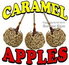 Caramel Apples Red DECAL (CHOOSE YOUR SIZE) Food Truck Sign Concession Sticker