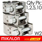 Pack of 1,2,5,10 | MIKALOR W2 | Stainless Steel | T Bolt Supra Hose Clip | Clamp
