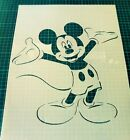 Mickey Mouse STENCIL for Kids room interior wall decor Various sizes Not a Decal
