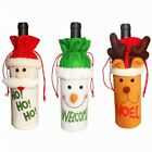 Hot Christmas Wine Bottle Wrap Cover Bag Xmas Dinner Table Party Decor