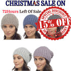 Ladies Winter Christmas Bobble Beanie Tom Franks Slouch Sequinned Knitted 1 Size