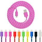 3/6/10ft Lightning Braided USB Charger Observations Sync Cable for iPhone/iPod/iPad Mini