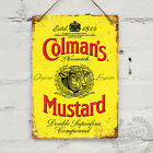 Coleman's Mustard Replica Vintage Metal Wall sign Retro Pub Bar Mancave Kitchen