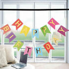 Happy Birthday Banner Party Decorations Bunting Gold Metallic Letter Multi Color