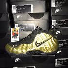 Nike Air Foamposite Pro Metallic Gold Black White 624041-701 Size: 8-14 <br/> IN STOCK &amp; READY TO SHIP!!! FASTEST FREE SHIPPING!!!!