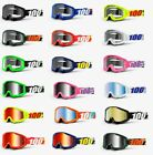 100% STRATA Goggles -ALL COLORS- Offroad MX MTB Motocross - CLEAR OR MIRROR LENS