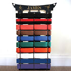 10 belt rack personalised martial arts display karate christmas birthday present