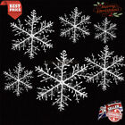 3 - 30 PCS Christmas White Snowflakes Decoration XmasTree Ornament Hanging Decor