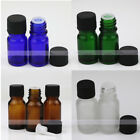 1X~30X Empty Amber Glass Bottle Euro Dropper For Essential Oils 5ml 10ml 15ml
