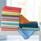 Fitted Flat Sheet Set in 1000 TC Egyptian Cotton US King Size Hotel Color Solid