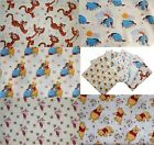 Winnie the Pooh Piglet Eyeore Tigger Disney Cotton Quilting Fabric by the metre