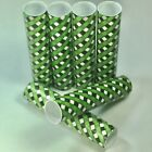 Black, White, and Green Gingham Check Plaid Candle Covers / Socket Sleeves Set