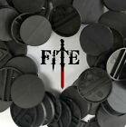 25mm round black plastic bases - for Infinity, Warhammer, wargaming *BRAND NEW*