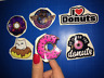6 donuts stickers set tumblr travel skate lagguage decal food bakery scrabooking