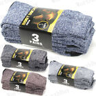3-12 Pairs Mens Heavy Duty Winter Warm Thermal Crew Work BOOTS Socks Size 9-13