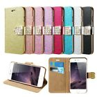 Bling Glitter Leather Case Magnetic Flip Wallet Cover For iPhone X 7 Samsung S8
