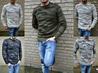 WINTER CAMOUFLAGE STYLE FIGURBETONTER GROBSTRICK PULLOVER KNITWEAR PULLOVER MODE