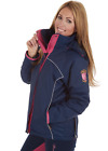 SHERWOOD FOREST AMBERLEY WATER PROOF RIDING COAT JACKET - NAVY/PINK  RRP £49.99