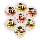 "10PCS 12"" Age Confetti Filled Balloon Helium Happy Birthday Wedding Party Decor"