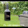Large Outdoor Fire Pit Log Burner Wood Garden Heater Stove Patio Stell Chimnea