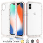 Shockproof Frame Bumper Clear TPU Back Case Protective Cover for Apple iPhone X