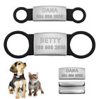Personalised Dog Tags ID Slide On Dog Collar Tag for Small Large Dogs Pet Puppy