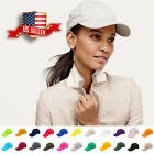 Baseball Cap Plain Blank Cotton Adjustable Solid Women Hat Polo Style Washed New