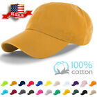 Baseball Cap Plain Blank Cotton Adjustable Solid Dad Hat Polo Style Washed New