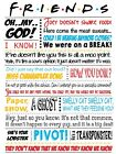 Popular Friends Quotes Central Perk Poster Print 260gsm Premium Poster Paper