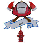 MAXORA Firefighter Personalized Christmas Tree Ornament With Gift Box