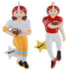 MAXORA Football Boy Football Girl Personalized Christmas Ornaments