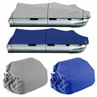 NEW 25-28Ft 600D Waterproof Heavy Duty Fabric Trailerable Pontoon Boat Cover EG