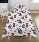 Cute Paddington Bear Print Kids Single Duvet Decorative Pillow Cover Bed Set