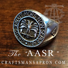 """The AASR"" Scottish Rite Ring, Sterling Silver"