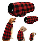 Red Plaid Winter Dog Clothes for Small Medium Large Dog Coats Outfits Pug 5 Size