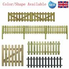 Picket Fence Panels Garden Landscaping Outdoor Portable Wood Color/Shape Availa