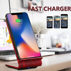 A8 9V 10W Wireless Qi Fast Charger Dual Coil Stand Pad For iPhone 8/ 8 Plus/ X