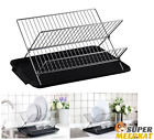 dish drainer with tray - Dish Drainer Black Small With Tray 2 Tier Kitchen Sink Drainers And Drying Rack
