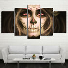 Day of the Dead Face Mask Art 5 Piece Canvas Art Framed Print Wall Home Decor