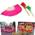 Fashion Hand Made Colorful Belly Dance Dancing Silk Bamboo Long Fans Veils57x75
