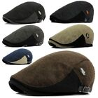 Mens Womens Autumn Winter Warm Wool Newsboy Hat Beret Visor Cabbie Driving Cap