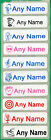 25 Printed iron on Name Tags tapes Custom Labels School clothes personalised