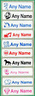 30 Printed iron on Name Tags tapes Custom Labels School clothes personalised