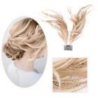 Synthetic Clip In Comb Foxtail Hairpieces With Braid Bun Updo Bendable Wire Hair