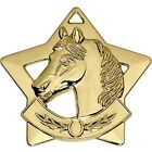 AM731 MINI STAR HORSE METAL MEDAL AND FREE RIBBON