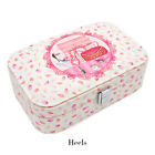 Travel Portable Jewellery Boxes Organizer Mirror Drawers Jewel Storage Cases