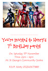 personalised photo paper card birthday party invitations invites POWER RANGERS 3