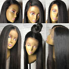 Pre Plucked Remy Human Hair Full Lace Wig Natural Straight Wave Wigs Lace Front